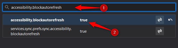 Capture accessibility.blockautorefresh